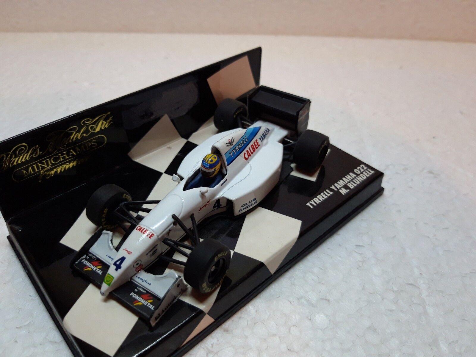 Tyrrell Yamaha 022   4 M bleundell  1994  MINICHAMPS  1 43