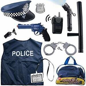 12-PZ-Police-Costume-per-bambini-con-giocattolo-gioco-di-ruolo-Kit-per-SWAT