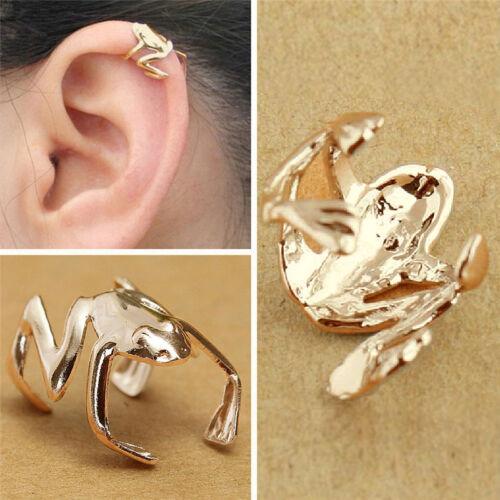 Fashion 1pcs Punk Gold Plated Cute Frog Cuff Ear Clip Wrap Earring Retro S/&K TD