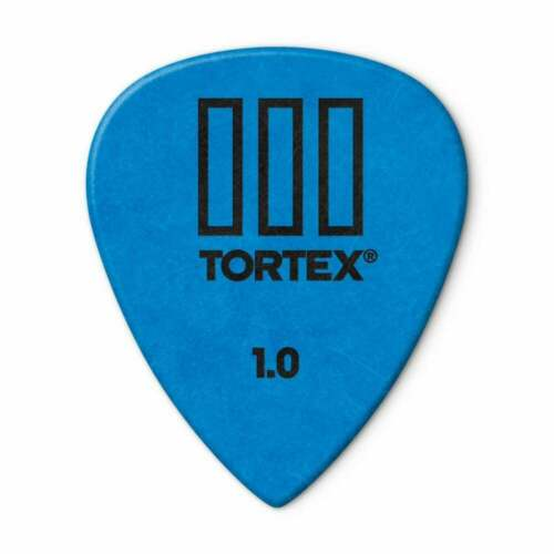 Jim Dunlop Tortex III Guitar Picks 1mm Blue Player Pack of 12 462P100