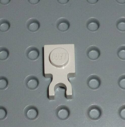 PM41 4085c WHITE x 10 Modified 1 x 1 with Clip Vertical Type 3 PLATE LEGO