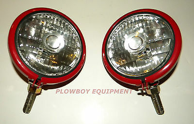 12 V HEADLIGHT PAIR for FARMALL CUB (Super A C H M) 100 130 200 300 350 400 450