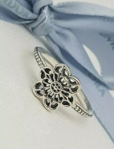 9d90484a1 Image is loading Authentic-Pandora-Sterling-Silver-Floral-Flower-Daisy-Lace-