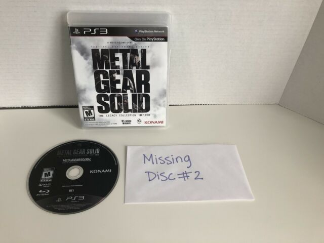 Metal Gear Solid: The Legacy Collection PS3   *** Missing Disc # 2 ***