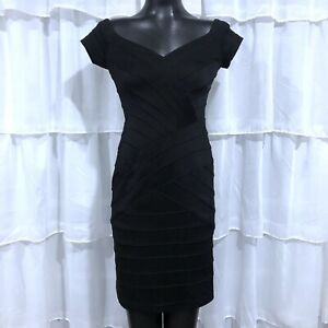 Medium-Petite-MP-TADASHI-Black-Banded-Dress