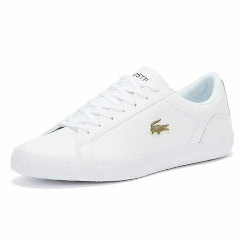 Lacoste Lerond 120 2 Mens White Trainers Designer Sneakers Athletic Sports Shoes