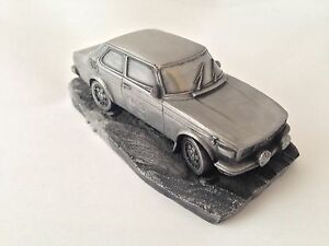 Saab-99-EMS-Pewter-Effect-1-43-Scale-Model-Car-Made-In-Sheffield