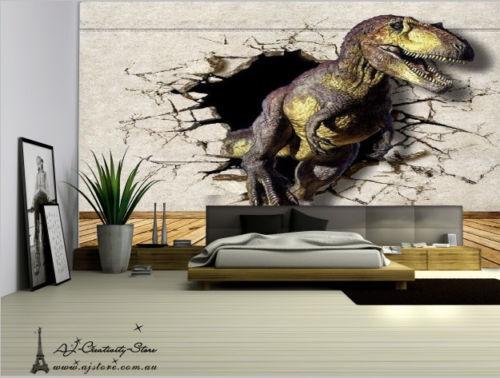3D Schwarz Dinosaurier 897 Fototapeten Wandbild Fototapete BildTapete Familie DE