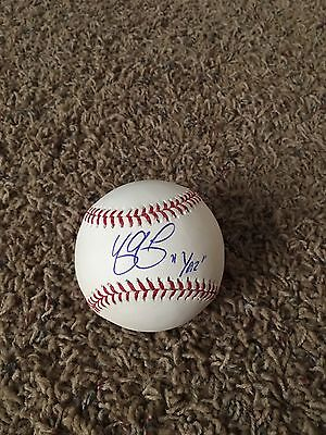 "Yasmani Grandal ""yaz"" Inscription Autographed Romlb Sports Mem, Cards & Fan Shop Balls"