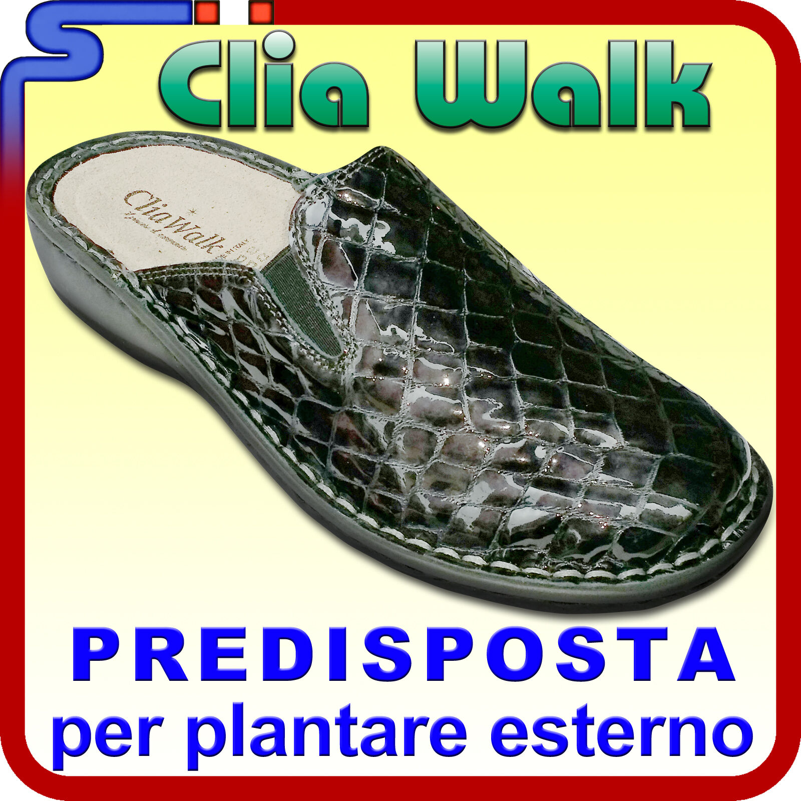 PANTOFOLA INVERNALE COLORE IN PELLE CLIA WALK COLORE INVERNALE ANTRACITE PANTOFOLE PREDISPOSTA db0e50
