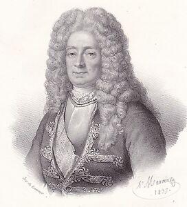 Portrait-XIXe-Victor-Marie-d-039-Estrees-Marine-Royale-Nouvelle-France-Quebec-1835
