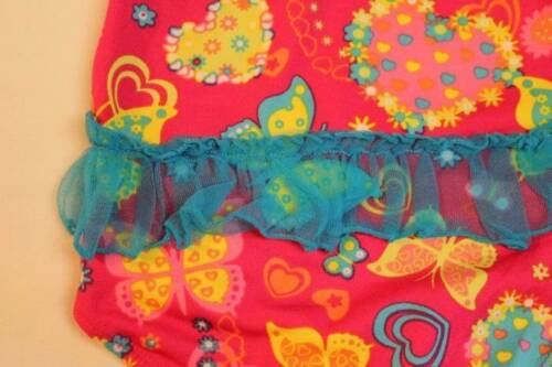 NEW Baby Girls Swimsuit 24 Mo Pink Butterfly Bathing Suit Tutu Hearts One Piece