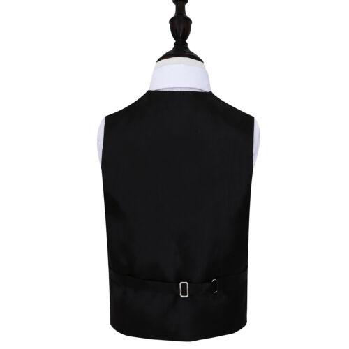 DQT Tourbillon à Motifs Bordeaux Garçons Mariage Gilet /& Cravate Set