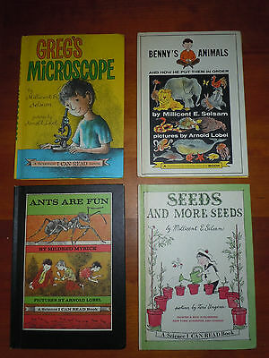 4 Vintage Childrens Books Science I Can Read 1959 63 66 68 A Lobel M Selsam EUC