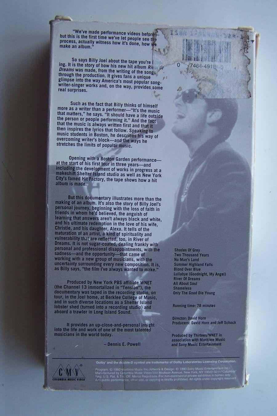 Billy Joel Shades of Grey VHS Tape 1993