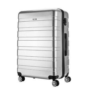 24-034-Silver-Hard-Shell-4-Wheel-Suitcase-PC-Luggage-Trolley-Medium-Case-Hand-Bag