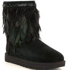 NWT UGG Australia Classic Short Peacock Boot Black Sheepskin Women Size 10 $320