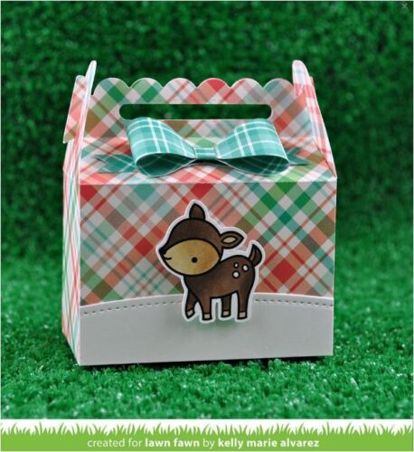 Lawn Fawn Lawn Cuts Cutting Die Set ~ SCALLOPED TREAT BOX ~ Party Favor ~ LF1232