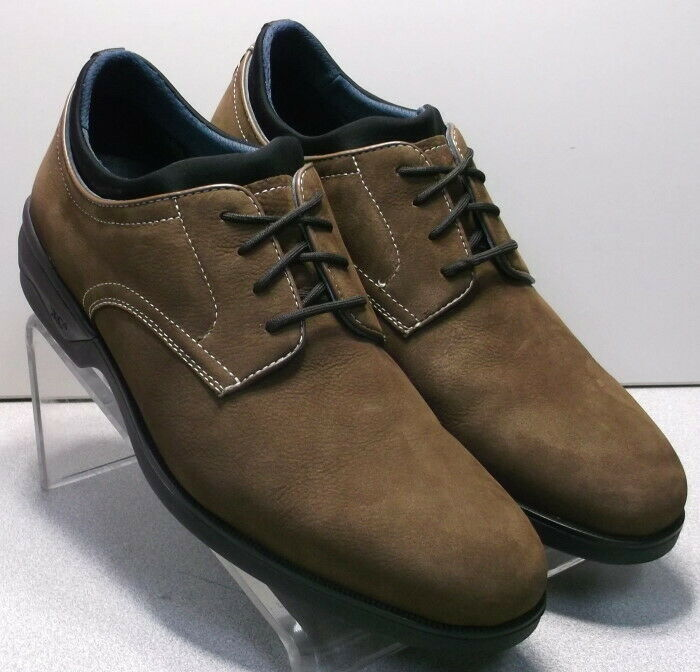 152770 PF50 Men's Shoes Size 10.5 M Brown Leather Lace Up Johnston & Murphy