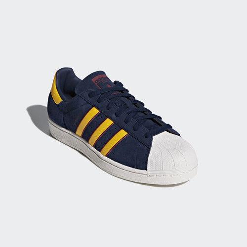 Adidas Original Superstar 2 hombres instructores zapatos amarillo rojo cm8080 instructores hombres de la Marina 501c6f
