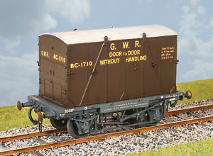 Parkside-PS39-O-Gauge-GWR-Container-Wagon-w-B-Container-Kit