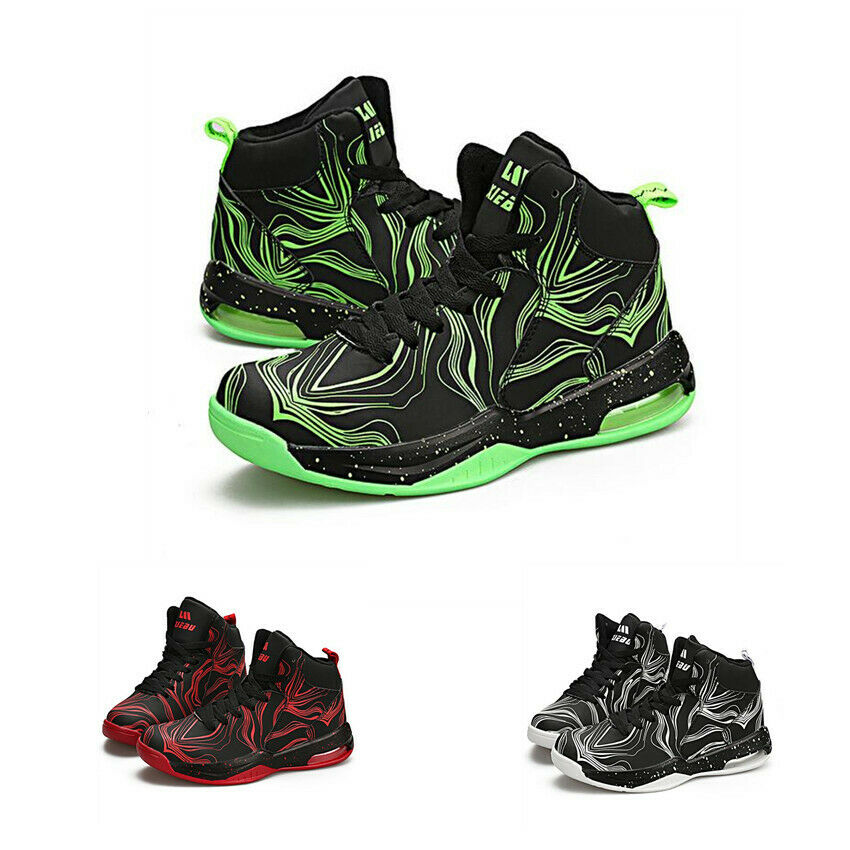 Mens High Top Athletic Outdoor Lace Up Breathable Sneakers Basketball shoes New