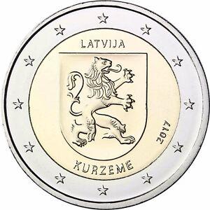 Lettland-2-Euro-Muenze-Kurzeme-2017-Historische-Regionen-Kurland-bankfrisch