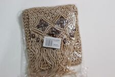 """HAND CRAFTED KNOT BEAD PURSE THE PARAGON GROUP BEIGE 8""""X 6"""""""
