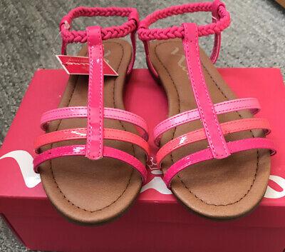 Size Toddler 9.0 Kids Nina Girls Karlee Canvas Zipper Gladiator Sandals Pink