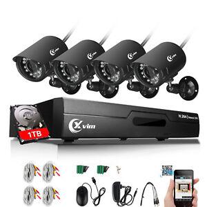 XVIM 1080P HDMI 8CH CCTV DVR 720P Outdoor IR Cut Home Security Camera System 1TB