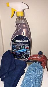 Waterless-Car-Wash-n-Shine-22oz-Mix-Kit-Concentrate-Wheel-2-Cloths-Biogloss