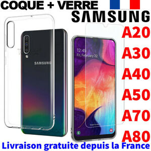 PROTECTION-SAMSUNG-GALAXY-A40-A50-A10-A80-COQUE-VERRE-TREMPE-ETUI-HOUSSE-CASE