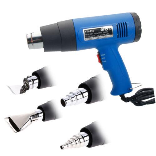 4 Nozzles Power Tool 1500W Heater Gun Heat Gun Hot Air Gun Dual Temperature