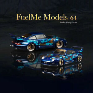 FuelMe-1-64-Scale-Porsche-911-993-RWB-ROYAL-OCEAN-Resin-Car-Model-New-in-Box