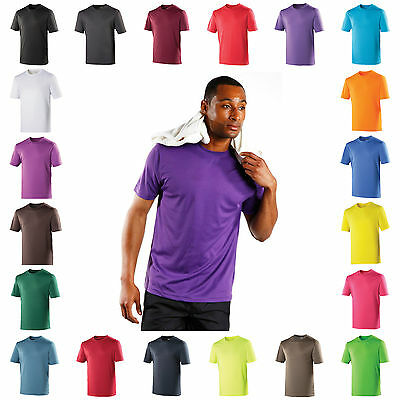 Generous Mens Performance T Shirt Wickable Breathable Training Gym Sport Running Top Tee Shirts T-shirts