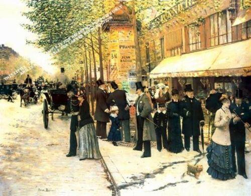 Paris On The Boulevard by Jean Beraud Artwork by Selby Prints