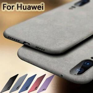 Pour Huawei P Smart 2019 P30 P20 Pro P9 Lite TPU doux grès Matte Case Cover