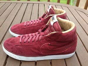 Nike-Blazer-Mid-Rosso-Bordeaux-SP-ginnastica-running-donna-UK-5-EU-38