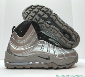 wholesale dealer 20787 aff4b Image is loading Nike-Air-Bakin-Posite-Pewter-Grey-Black-Foamposite-