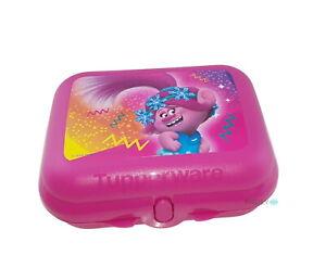 Tupperware Mini-Twin Trolls Brotdose Pausen-Box Lunchbox Pink Troll Snackbox