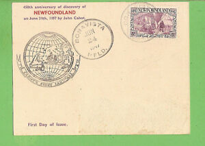 #D314. 1947 FDC CARD - BONAVISTA, NEWFOUNDLAND