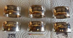 925er-Sterling-Silber-6-Serviettenringe-mit-Agyptischen-Motiven
