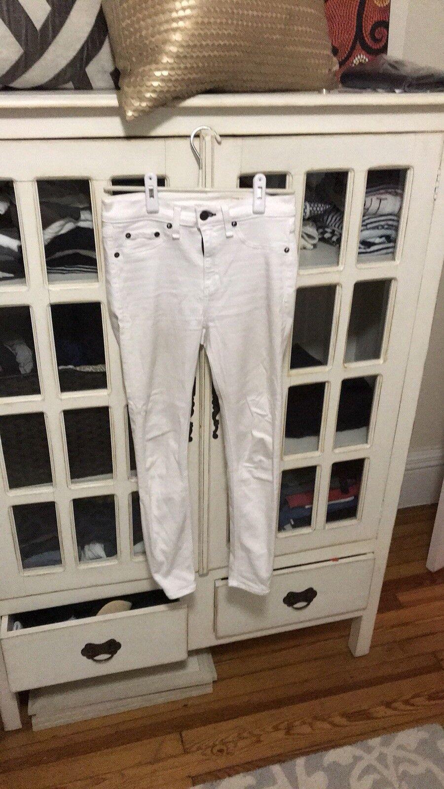 Rag & Bone White Jeans - Size 28