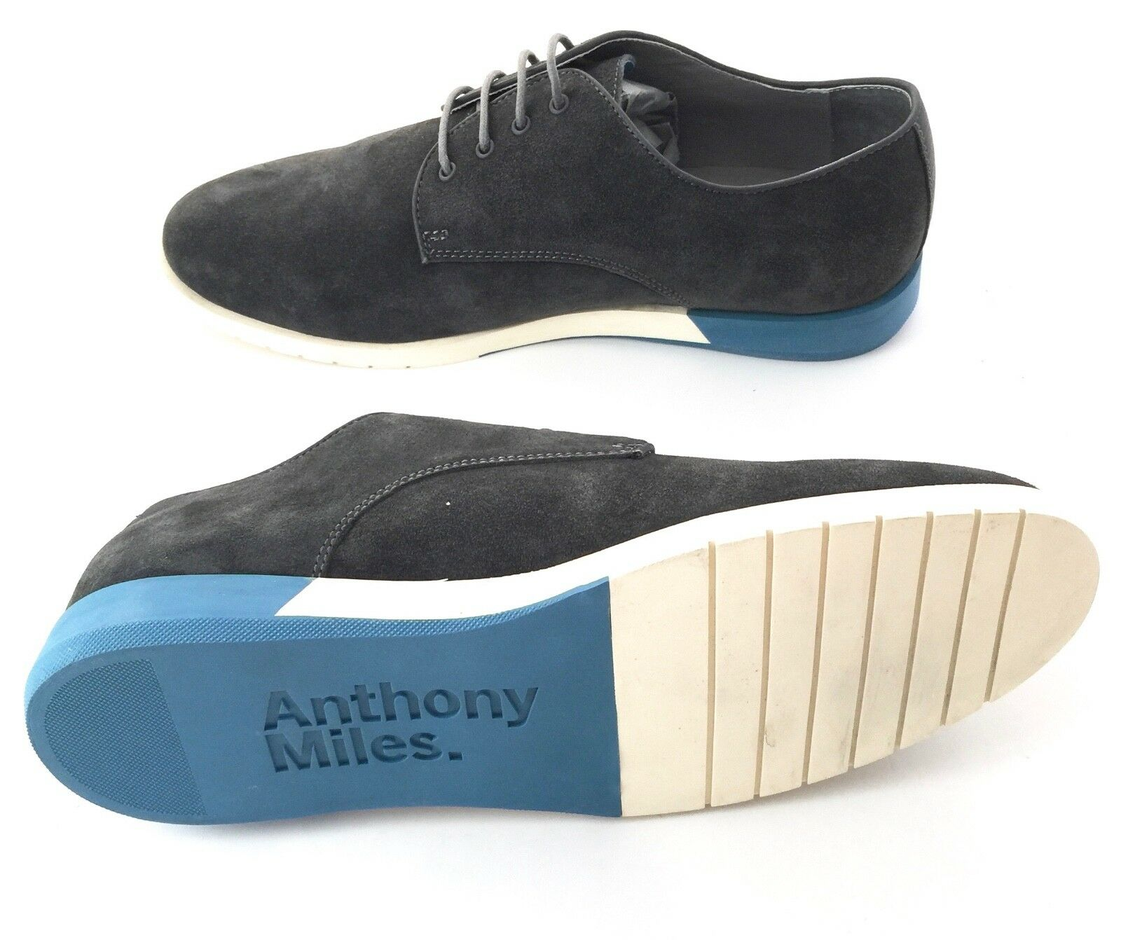 ANTHONY MILES (UK) New Mens Grey Suede shoes Size - European 43   US10