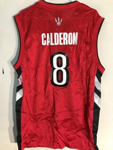 b8c86a89fbe ... get adidas nba jersey toronto raptors jose calderon red throwback sz l  9ea1d de656