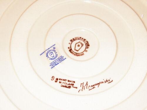 Polish Pottery Deep Dish Pie Baker UNIKAT Signature Exclusive Miss Daisy!