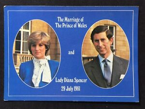 Vintage-Postcard-RP-Royalty-104-Colourmaster-Charles-Diana-Wedding