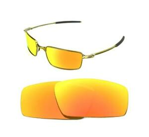 820af691900 NEW POLARIZED CUSTOM FIRE RED LENS FOR OAKLEY SQUARE WIRE SUNGLASSES ...