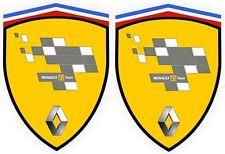 2 stickers adhésifs RENAULT F1 TEAM  (idéal pour ailes avant ) MEGANE CLIO RS