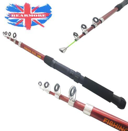 Telescopic Travel Spinning Rod Carbon Fiber 1.8 Mtr Fishing Pole General purpose